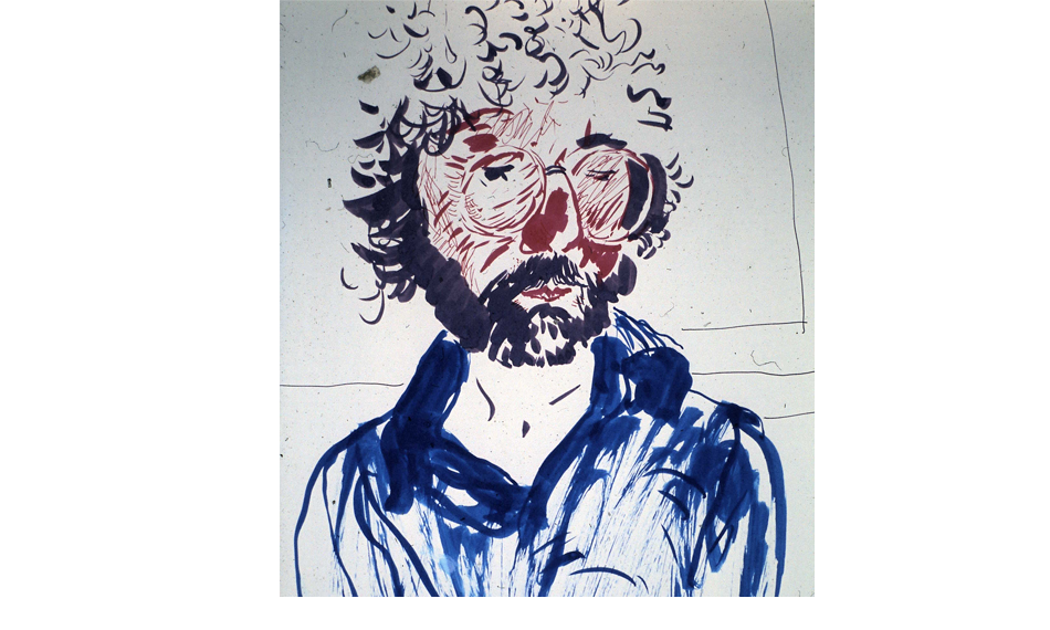 A Portrait of Peter Webb by David Hockney - Coloured Ink, 1982